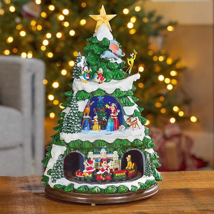 【送料無料】ディズニークリスマスツリー ローティングトレイン ライト/クリスマスソング8曲/汽車/オブジェ/高さ約44cm※同梱不可※沖縄・離島発送不可