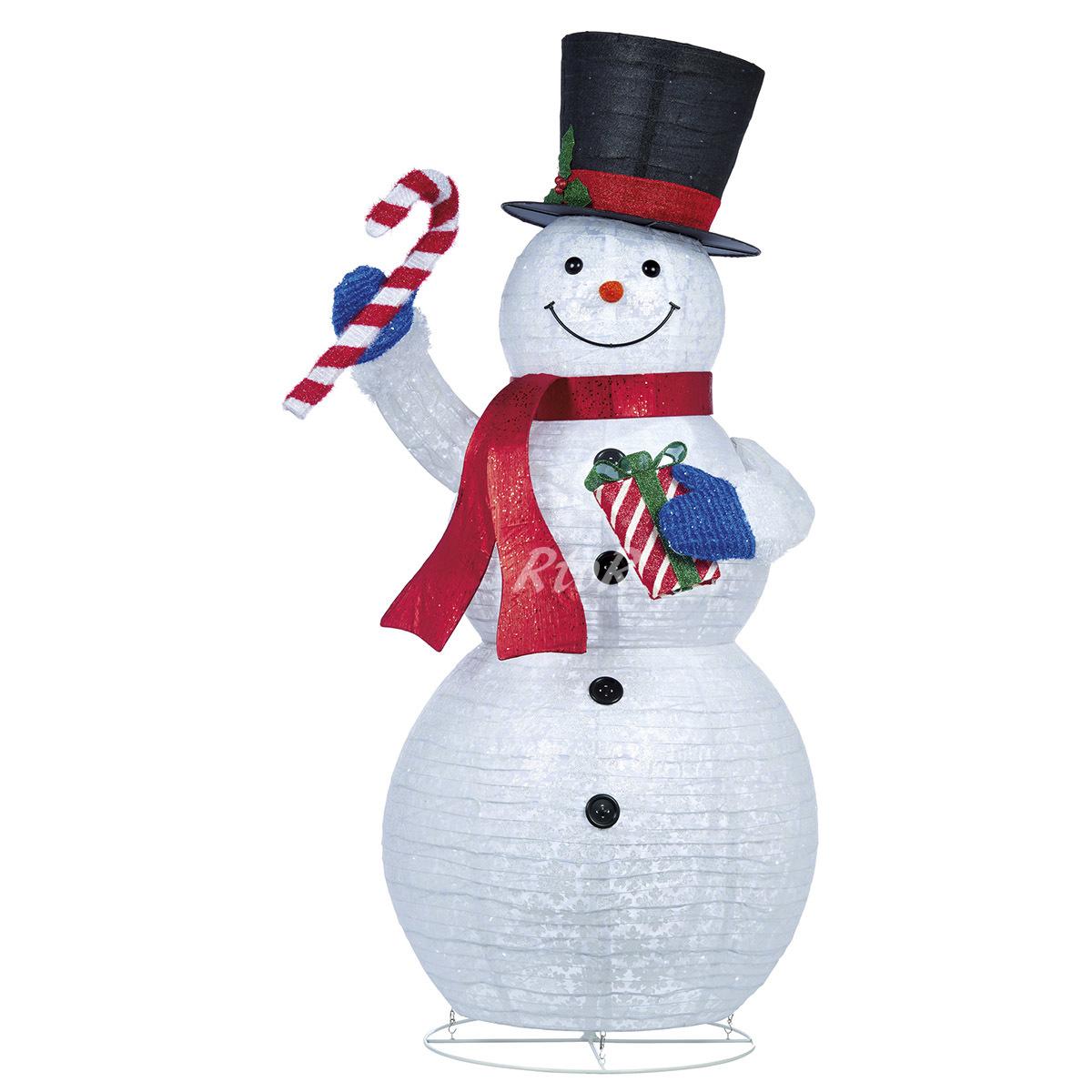 【送料無料】ポップアップ スノーマン 約213cm LED電球約330球付き SNOWMAN クリスマス イルミネーション
