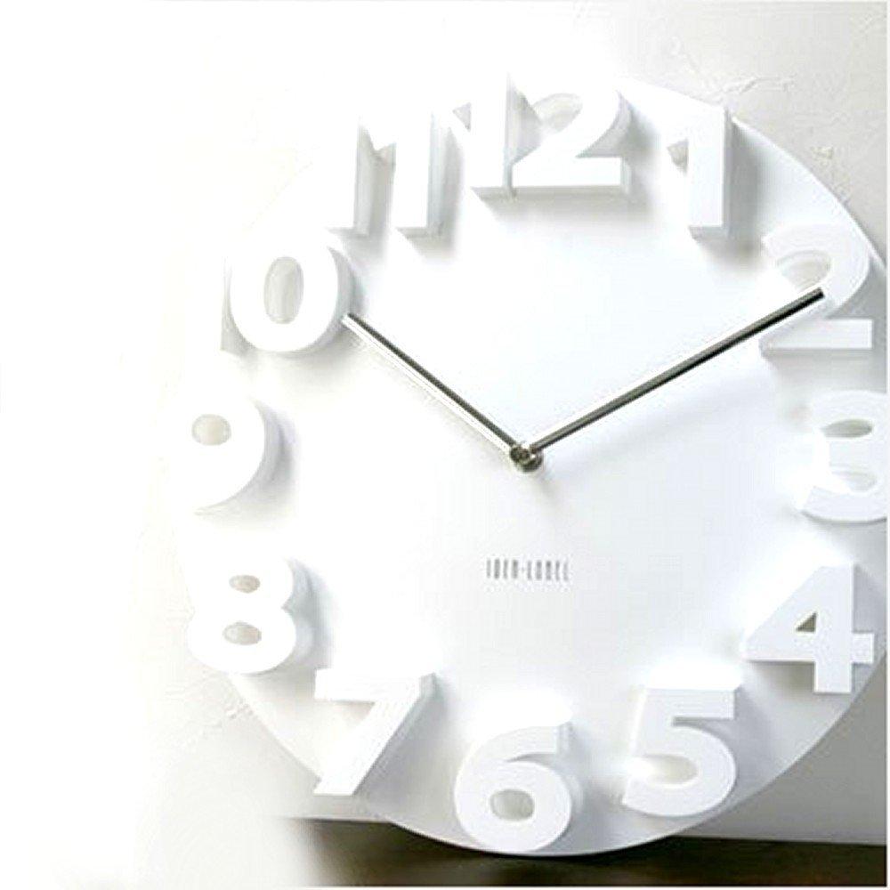 3D 立体 掛け時計 情熱セール モダン デザイン セール 登場から人気沸騰 壁 ウォールクロック 35cm 白