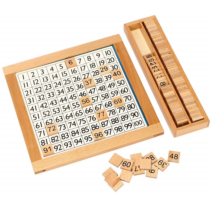 知育玩具 アウトレットセール 特集 木製 おもちゃ 数字パズル 限定価格セール 算数 学習 モンテッソーリ教材 100並べセット