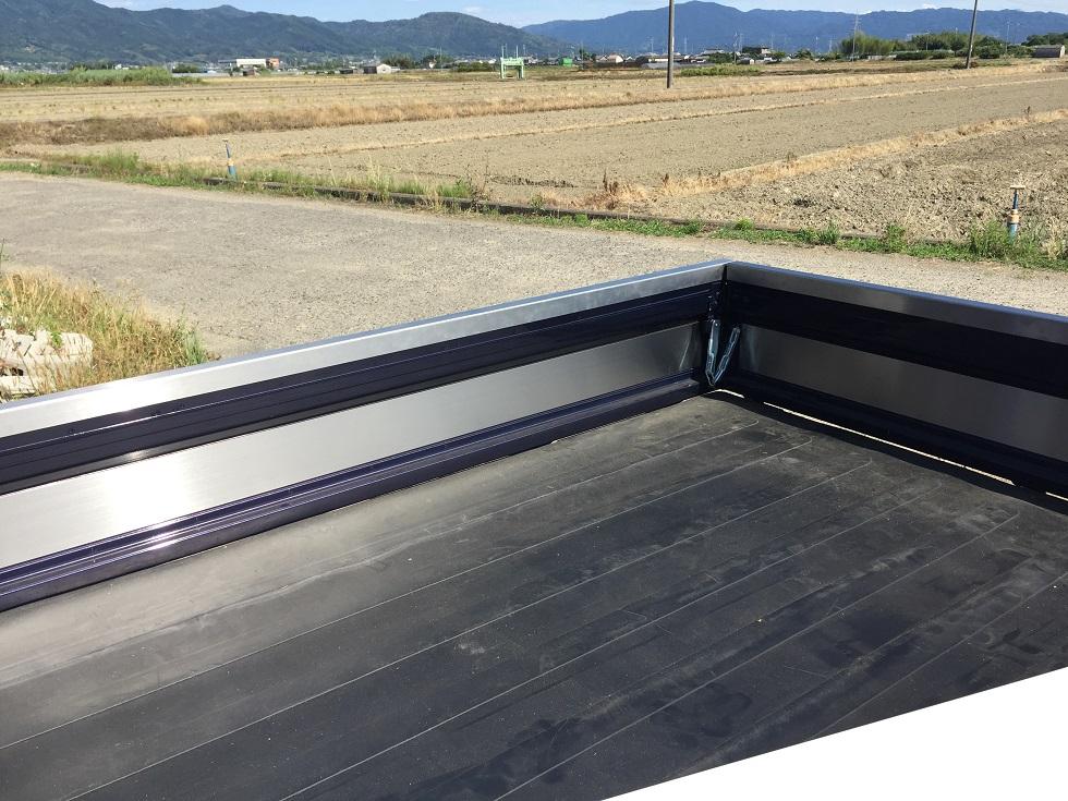 S500P/510P用ハイゼットジャンボ 荷台あおり内 ステンレスプレート(3辺セット)