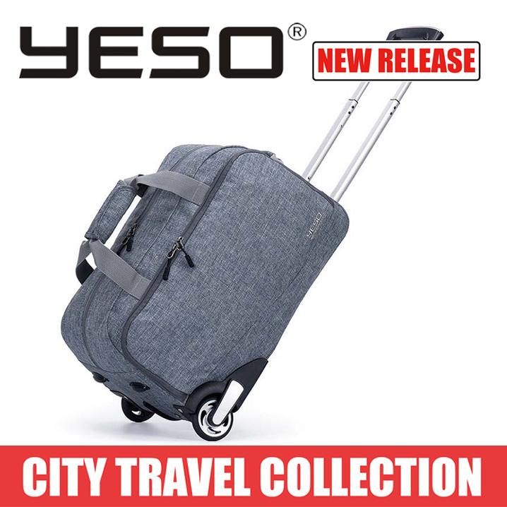 YESO 旅行かばん キャリーバッグ ボストンバッグ ボストンキャリーバッグ レディース メンズ 2Way 1~2日 旅行 2輪 出張 ビジネス 機内持ち込み可能 送料無料 あす楽対応 撥水加工
