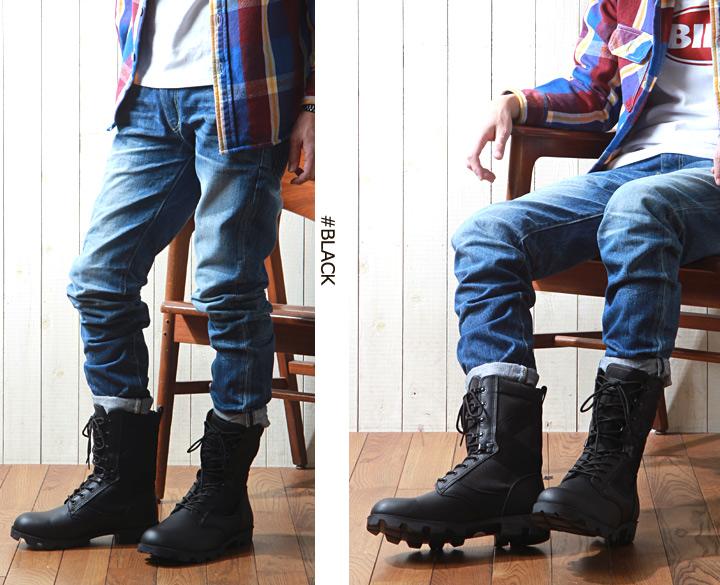 靴子 /AVIREX / avirexl /COMBAT / AV2001 叢林皮靴這皮革和皮革軍事 / 男 / 休閒