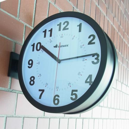 両面時計(ボノックスダブルフェイス ウォールクロック 黒)ダルトン社の壁付け用両面時計【あす楽対応】【同梱不可】