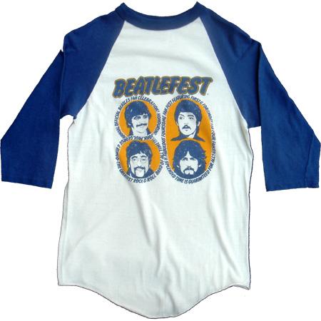 【SALE】【大幅値下げ】【BEATLEFEST】ビートルフェストロック 7分ビンテージTシャツ【中古】
