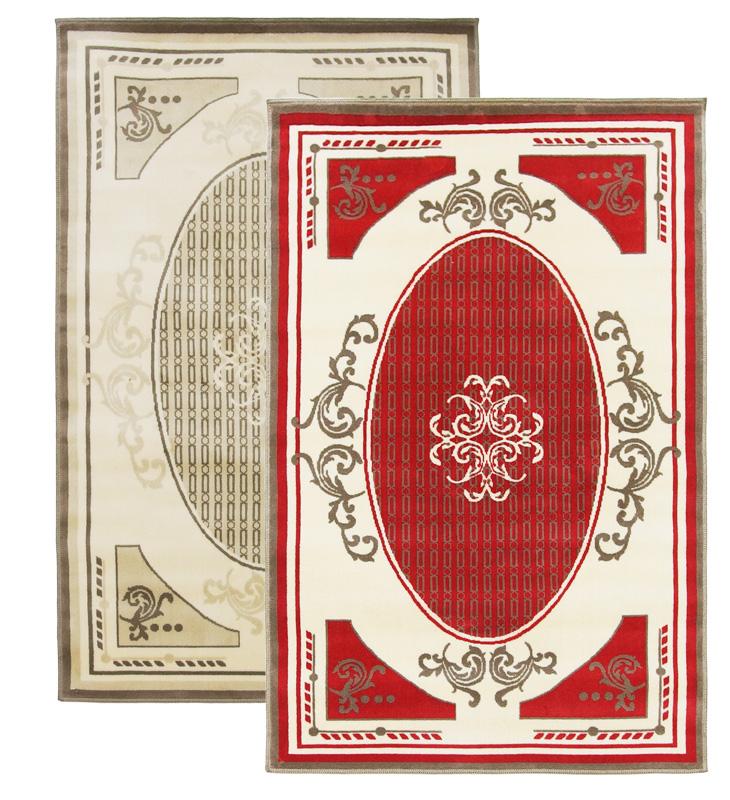 玄関マット「ルサージュ/Alixe(アリクセ)」 レッド&アイボリーの2色展開 綿100% 140×200cm フランステイスト溢れるエレガントなデザイン【532P26Feb16】