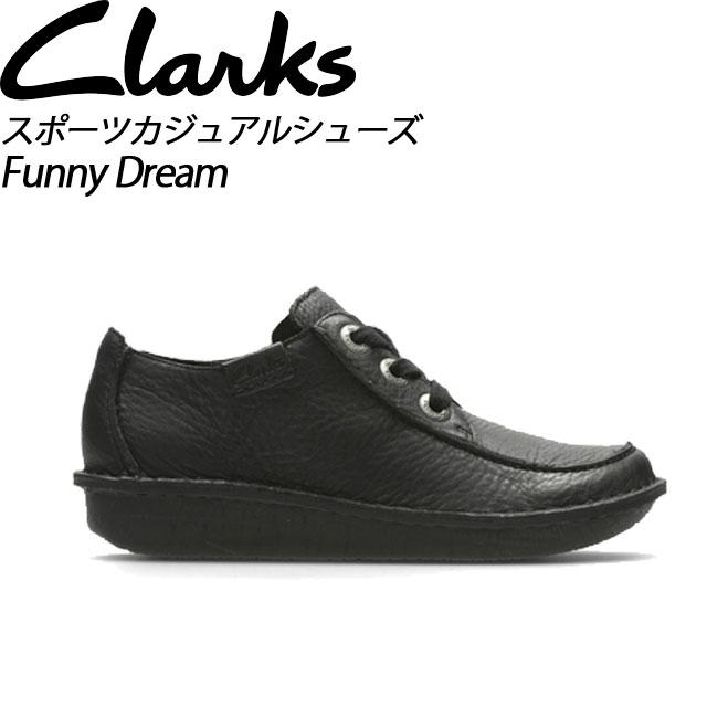クラークス レディース スニーカー ファニードリーム ブラックレザー 20306639 Clarks Funny Dream スポーツカジュアルシューズ【レディース】