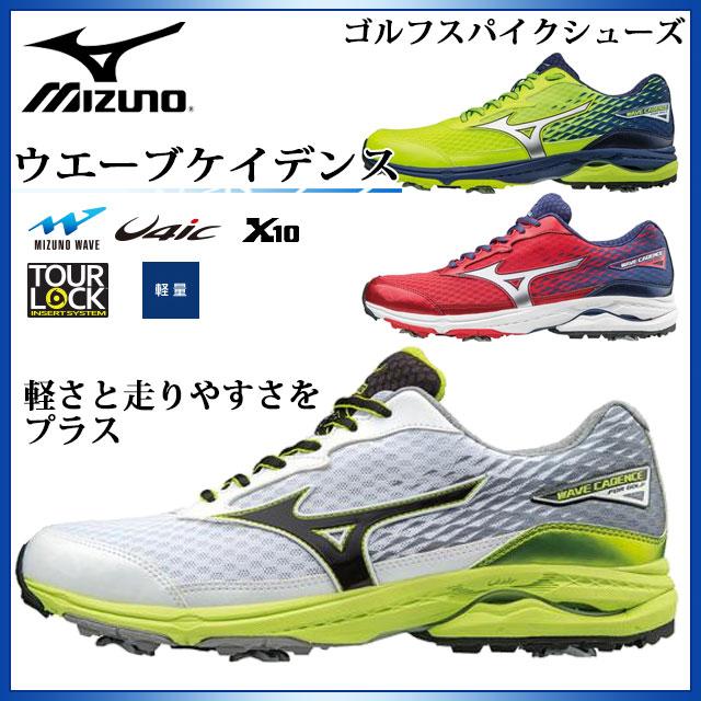 ミズノ ゴルフ メンズ スパイクシューズ ウエーブケイデンス 51GM1750 MIZUNO 軽さと走りやすさをプラス