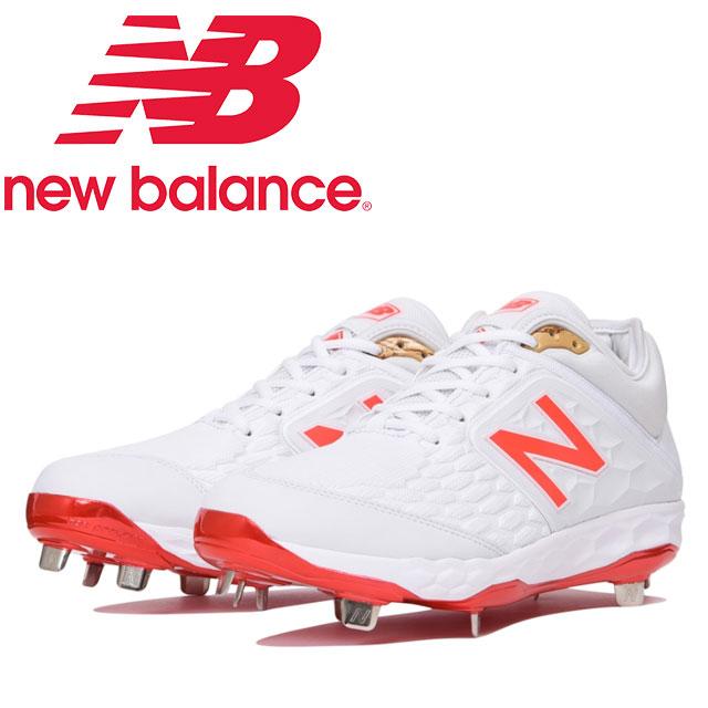 ☆ニューバランス 野球 金具スパイク L3000AS4 ホワイトxフレイム NEW BALANCE L3000AS4 あす楽 送料無料