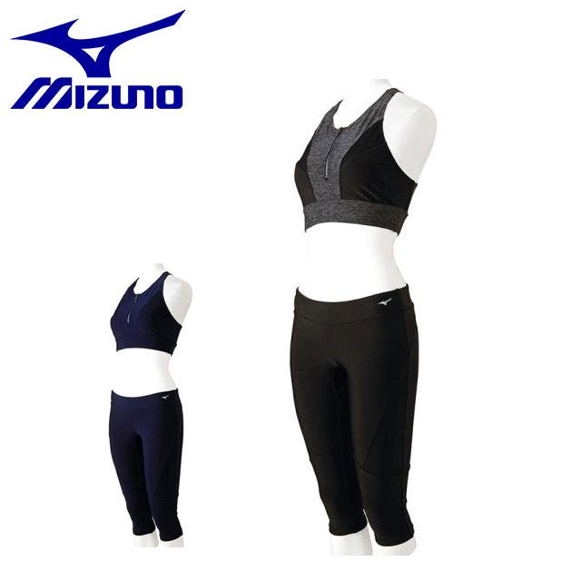 ミズノ レディース 水泳 セパレーツ(6分丈) 水着 N2JG8383 MIZUNO ジップアップ フィットネ トレーニングウエア