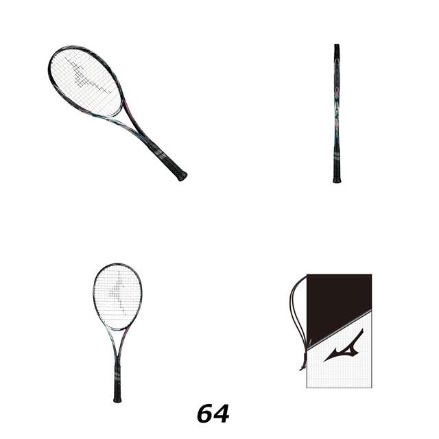MIZUNO 63jtn856 64 ミズノ レディース ソフトテニスラケット