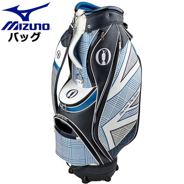 ミズノ ゴルフ THE OPEN カートキャディバッグ MIZUNO 5LJC1908 キャディバッグ グレンチェック・チドリ