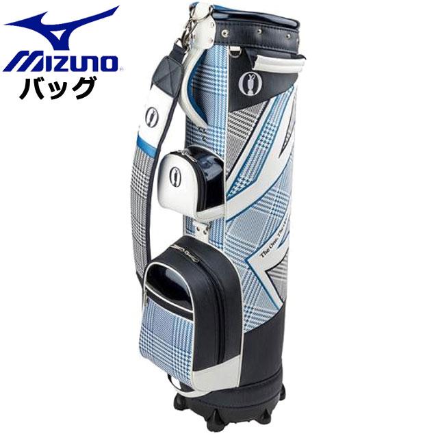 ミズノ ゴルフ THE OPEN スリムキャディバッグ MIZUNO 5LJC1909 キャディバッグ グレンチェック・チドリウエア メンズ