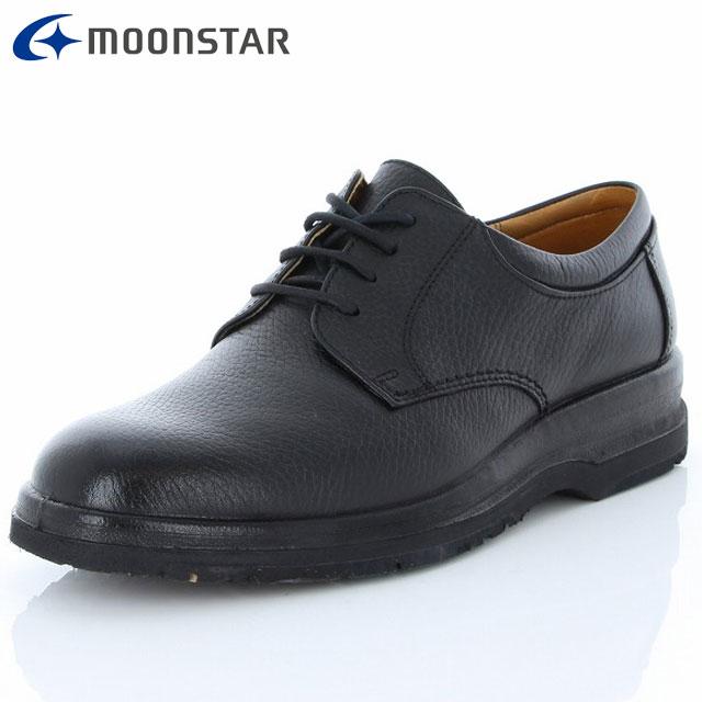 ムーンスター シューズ メンズ SPH7315TSR ブラック 42343151 MS 滑りにくい 雪寒地向け ビジネスシューズ 4E ワイド 撥水加工 水をはじいて靴内を快適に 靴