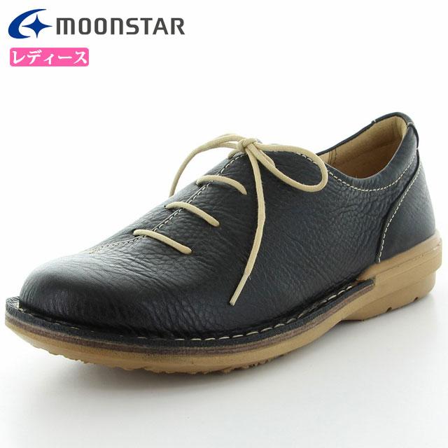 ムーンスター シューズ レディース SLアワセ01 ブラック 42600036 MS ライフスタイル カジュアル スニーカー 甲の部分はやわらかくフィット 足にやさしくここち良いつくり 靴
