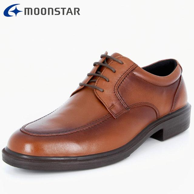 ムーンスター ビジネスシューズ メンズ SPH4941 ブラウン 42293153 MS Uチップタイプ 軽くて足に快適にフィット ソフトな履き心地 撥水加工 ムレを考慮した設計 靴