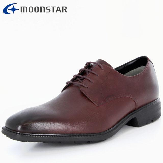 ムーンスター ビジネスシューズ メンズ SPH4610 B 42293209 MS 防水×防滑 プレーンタイプ 雨の日も快適 擦り減りにくい仕様 靴
