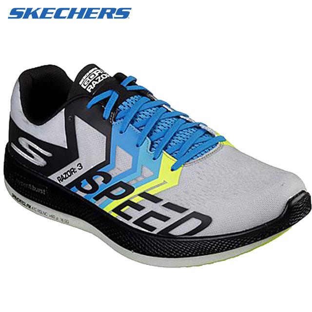 スケッチャーズ シューズ メンズ 靴 スニーカー GO RUN RAZOR 3 スポーツカジュアルシューズ ランニングシューズ クッション性 軽快 快適 パフォーマンス スポーティー トレーニング ウォーキング ファッション アパレル アクセサリー 用具 小物 255-280 SKECHERS 55220