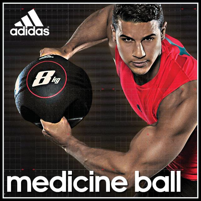 adidas フィットネス トレーニング 用品 ADBL10414 デュアルグリップ メディシンボール 【8kg】 筋トレ ジム