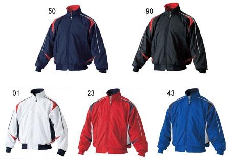 ASICS baseball jacket BAG05J Jr... ground coat lightweight tricot brushed GRA com