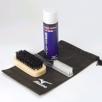 MIZUNO (YM) shoe cleaning set (brushed leather only)