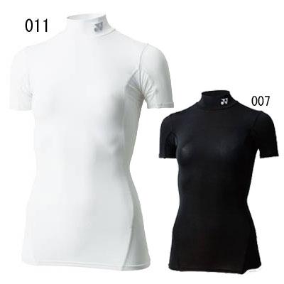 (Yonex) YONEX 羽毛球和網球壓縮襯衫 STBF1503 女士高領短袖 T 恤核心平衡功能內部 UV 切口日本護理