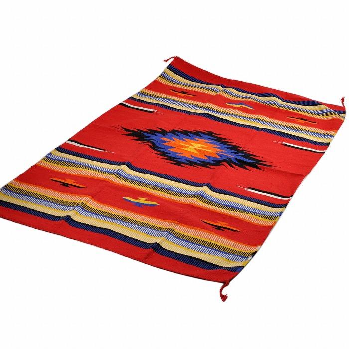 エルパソサドルブランケット (El Paso SADDLEBLANKET) Fiesta Rug Mats/ラグマット[約183×122cm]F46/RED