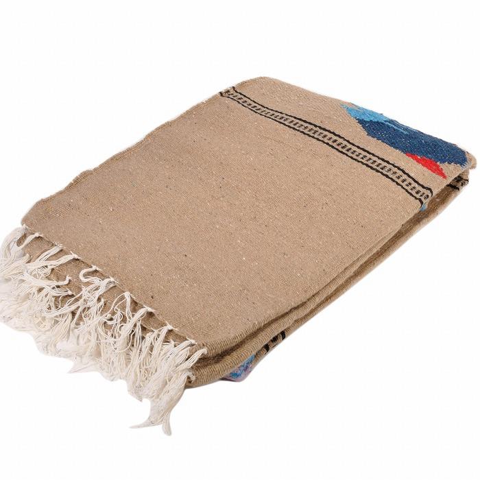 モリーナインディアンブランケット (Molina Indian Blanket) Fish Design Blanket/フィッシュデザインブランケット[約203×127cm]TAUPE