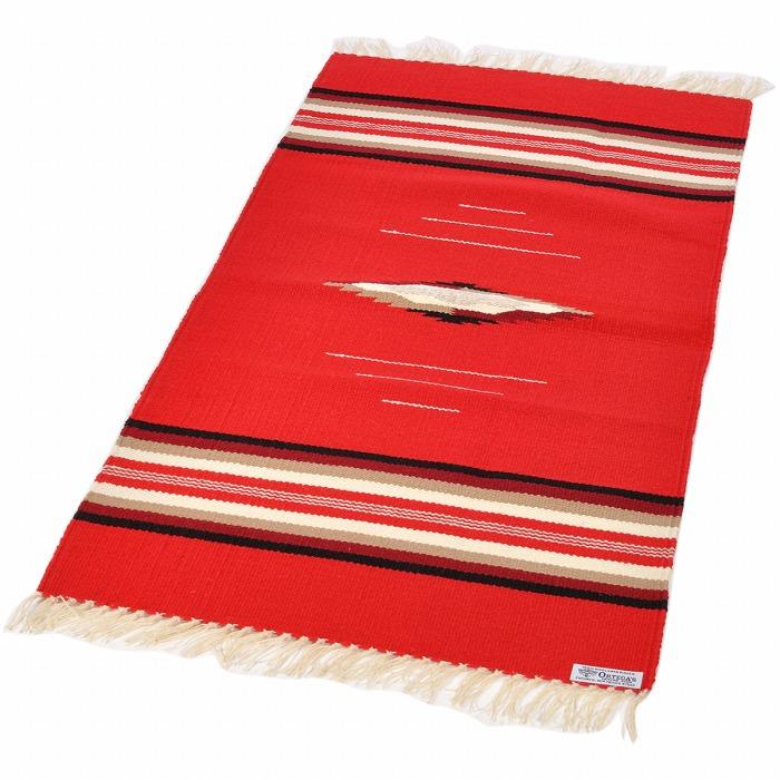 オルテガ (Ortega's) Chimayo Blanket/チマヨブランケット/ラグマット[約102×51cm]RED