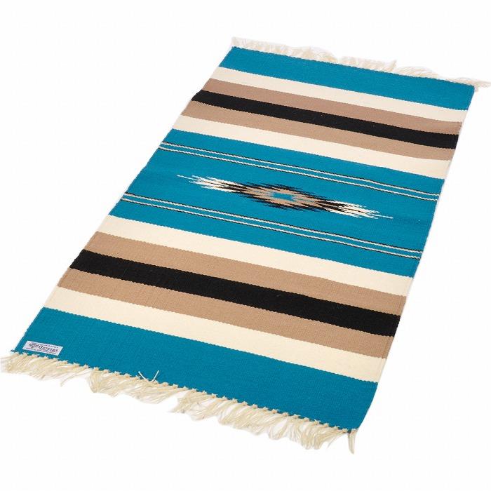 オルテガ (Ortega's) Chimayo Blanket/チマヨブランケット/ラグマット[約102×51cm]TURQUOISE