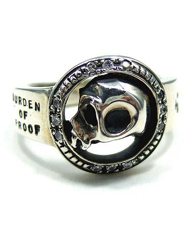 送料無料 シルバー925 リング 指輪 / バーデンオブプルーフ / サークル スカル リング 【 指輪 メンズ レディース リング おしゃれ 敬老の日 】