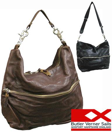 レザーショルダーバッグ 日本製 本革鞄 2WAY レザーバッグ 牛革 シワ加工 / バトラーバーナーセイルズ ButlerVernerSails / メンズ レディース 柔らかい ソフトレザー 斜めがけ 大容量 おしゃれ カジュアル 30代 40代 50代 ファッション ブランド