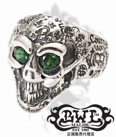 送料無料 BWL ビルウォールレザー Bill Wall Leather / シルバー925 リング 指輪 / グラフィティー スモール G.L.S ストーン アイズ リング 【 メンズ レディース BWL指輪シルバー おしゃれ 敬老の日 】