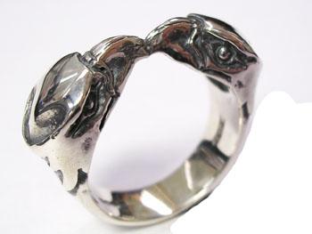 クレイジーピッグ 「正規販売認定店」 シルバー925 リング メンズ シルバーリング 指輪 / CRAZY PIG ツインイーグルリング 【 正規品 指輪 メンズリング レディースリング おしゃれ かっこいい 人気 ブランド JAS刻印 敬老の日 】