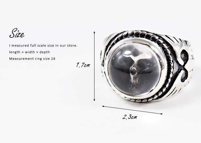 クレイジーピッグ 「正規販売認定店」 シルバー925 リング メンズ シルバーリング 指輪 / CRAZY PIG スモールクリスタルスカルリング【 正規品 指輪 メンズリング レディースリング おしゃれ かっこいい 人気 ブランド JAS刻印 】