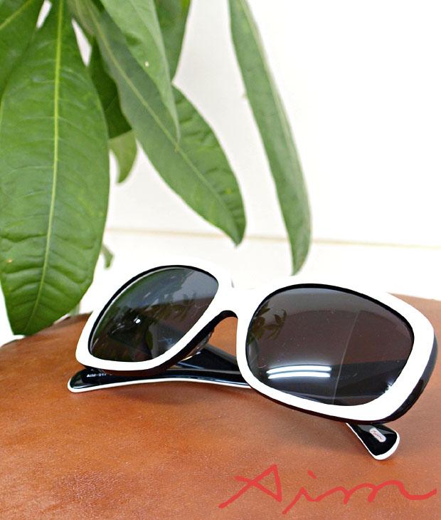 送料無料 エイム Aim / スクウェアシェイプがオシャレ 2トーン スクウエアフレームサングラス 【 メンズ レディース サングラス メガネ アイウェア 伊達眼鏡 uvカット おしゃれ 】
