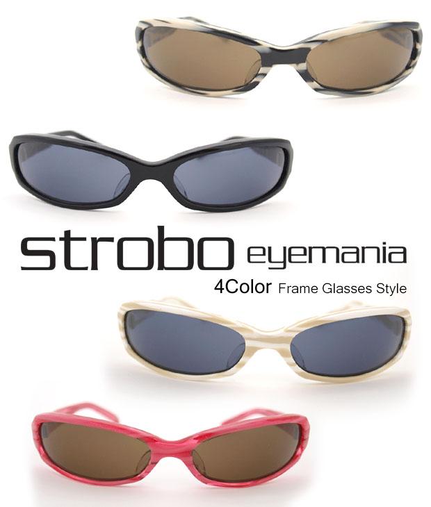 送料無料 ストロボ Strobo / シャープなスタイリング!COOLなキャッツアイ型のセルフレームサングラス 【 メンズ レディース サングラス メガネ アイウェア 伊達眼鏡 uvカット おしゃれ 】