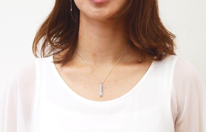Bulgari perfume limited edition gift necklace pendant Silver 925 / lullacris tea sideways necklace Christmas gift