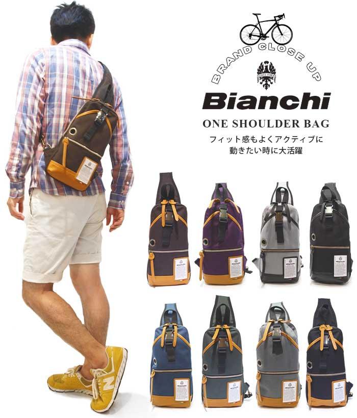ビアンキ ボデイパック 斜めがけバッグ 日本正規品 Bianchi ワンショルダーバッグ 【 メンズ レディース ナイロン メンズビジネスバッグ おしゃれ 軽量 軽い コンパクト 撥水性 ポケット たくさん 30代 40代 50代 ファッション ブランド アウトドア 】