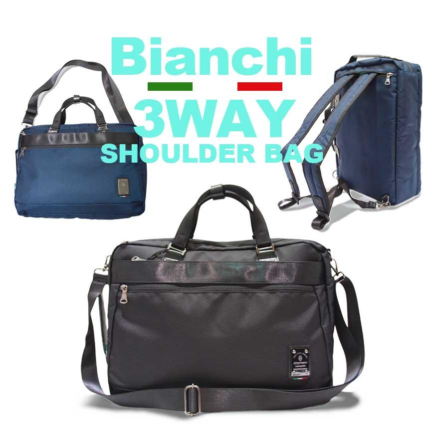79676f119 Bianchi 3way box type Japanese regular article Bianchi rucksack shoulder  bag tote bag ...