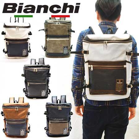ビアンキ リュックサック 日本正規品 Bianchi 大容量 ヒューズボックス型 【 メンズ レディース バッグパック おしゃれ スクエア型 軽量 軽い 大きめ ポケット たくさん 30代 40代 50代 ファッション ブランド アウトドア 】【あす楽】