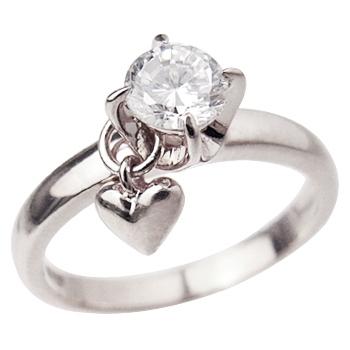 指輪 レディース リング ゆびわ ring サイズ 日本正規品 シルバー925 プレゼント ギフト ミィー m.e. 誕生日 me ミー ハート ピンキーリング ロジウムcoatリング ファッション通販 1粒石 送料無料 ロジウムコーティング かわいい おしゃれ