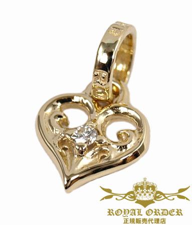 ロイヤルオーダー Royal Order 正規 ゴールド ネックレス ロイヤルオーダー ペンダント 送料無料 K9ゴールド / スモール アレグラ ハート w/ダイヤモンド K9ゴールド ペンダント ネックレス メンズ ネックレス レディース おしゃれ ブランド
