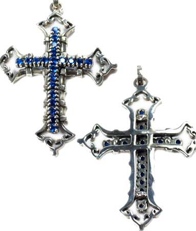 Royal necklace ROYAL ORDER pendant 600 s Silver 925 / large consort cross w/CZs pendant Christmas gift