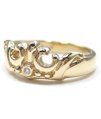 ロイヤルオーダー Royal Order 正規 ゴールド リング ロイヤルオーダー 指輪 送料無料 K18ゴールド/ マリークラウン バンド w/ダイヤモンド K18ゴールド リング gold ring 指輪 プライダルジュエリー メンズ レディース おしゃれ 18金 敬老の日