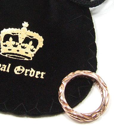 ロイヤルオーダー Royal Order 正規 ゴールド リング ロイヤルオーダー 指輪 送料無料 K9ゴールド/ リボン バンド w/1ダイヤモンド K18ゴールド リング 指輪 リング メンズ リング レディース おしゃれ 18金 敬老の日