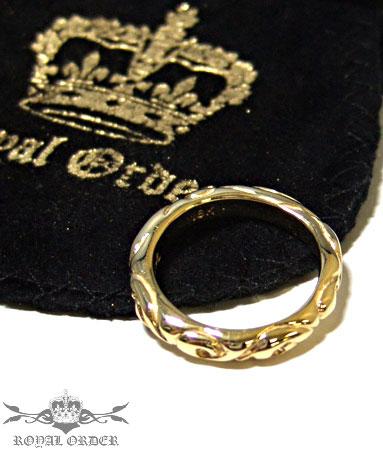 ロイヤルオーダー Royal Order 正規 ゴールド リング ロイヤルオーダー 指輪 送料無料 K9ゴールド/ リボン バンド K18ゴールド リング 指輪 リング メンズ リング レディース おしゃれ 18金 コロナ禍