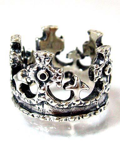 ロイヤルオーダー Royal Order 正規 リング ロイヤルオーダー 指輪 送料無料 シルバー925 / ロイヤル クラウン w/ブラックダイヤモンド リング 指輪 リング メンズ リング レディース おしゃれ ブランド