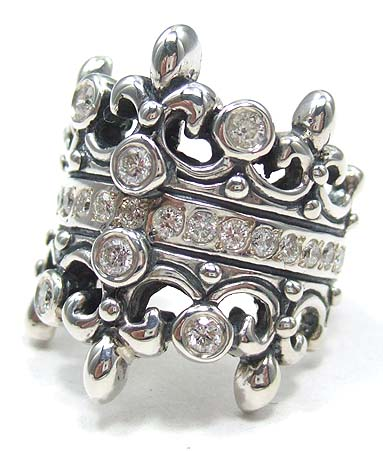 ロイヤルオーダー Royal Order 正規 リング ロイヤルオーダー 指輪 送料無料 シルバー925 / ダブル ティアラ w/ダイヤモンド&ダイヤモンド リング 指輪 リング メンズ リング レディース おしゃれ ブランド