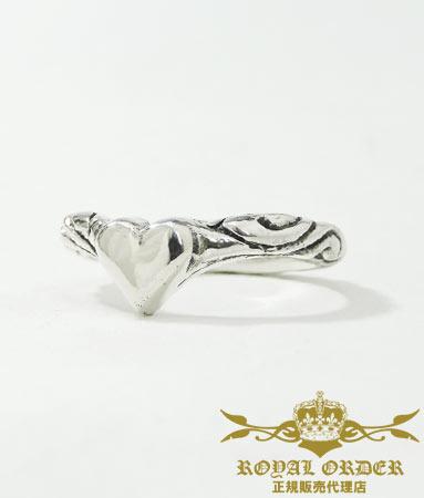 ロイヤルオーダー Royal Order 正規 リング ロイヤルオーダー 指輪 送料無料 シルバー925 / ribbon tiara band w/heart 指輪 リング メンズ リング レディース おしゃれ ブランド